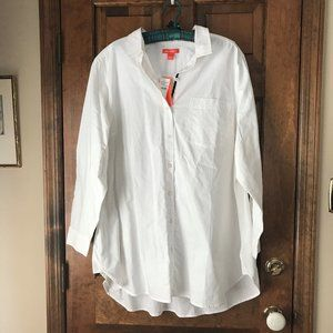 Joe Fresh White Button Down Shirt Size 2X